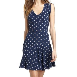 Rebecca Taylor Ikat Heart 40's Silk Dress